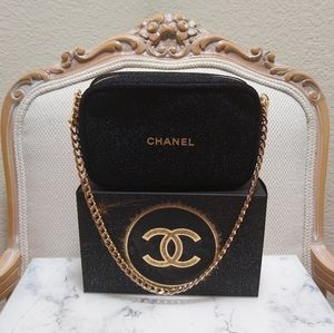 Chanel Holiday Makeup Pouch with Chain